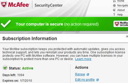 McAfee's BACK!